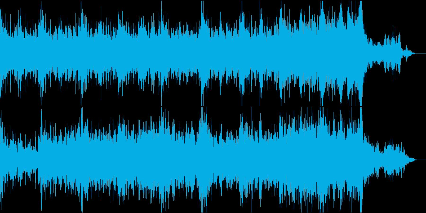 恐怖に襲われるようなドキドキする音の再生済みの波形