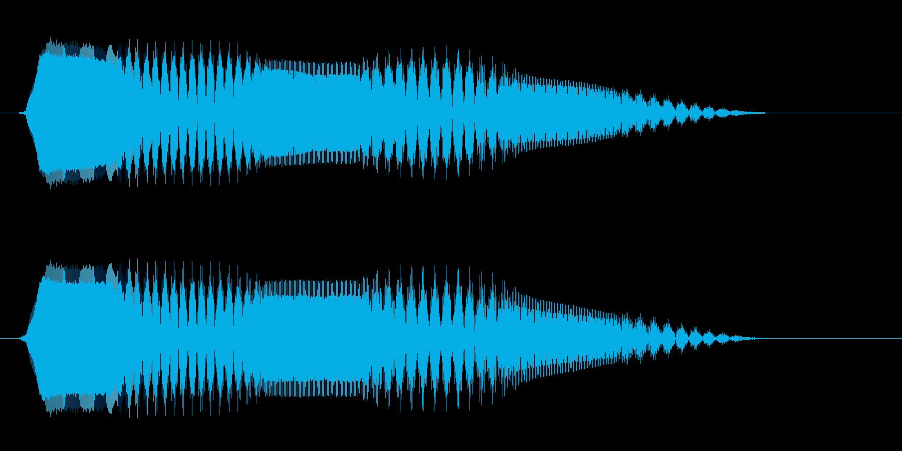 ピュロ(高音 電子音)の再生済みの波形