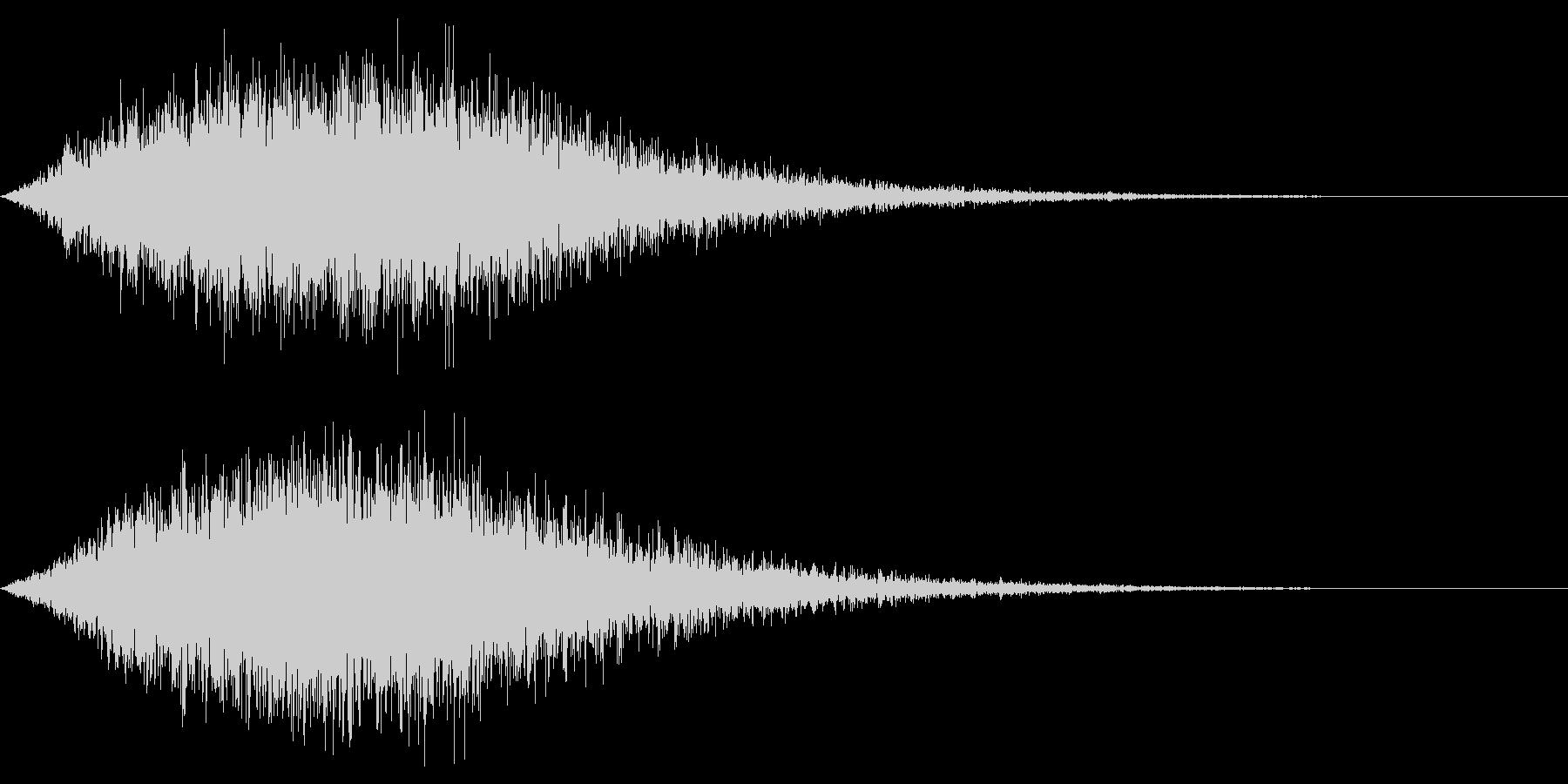 ホラー雰囲気の音の未再生の波形