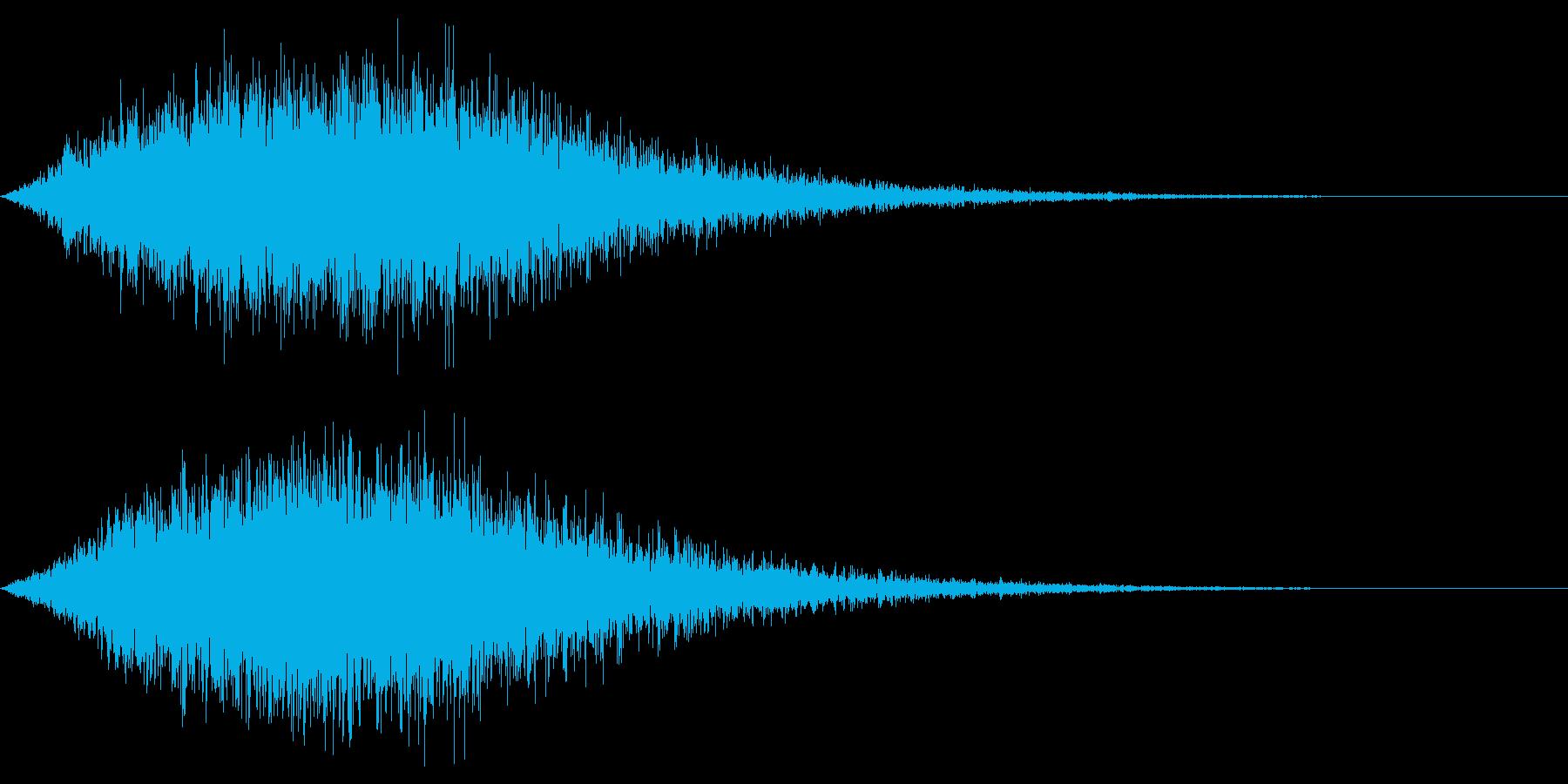 ホラー雰囲気の音の再生済みの波形
