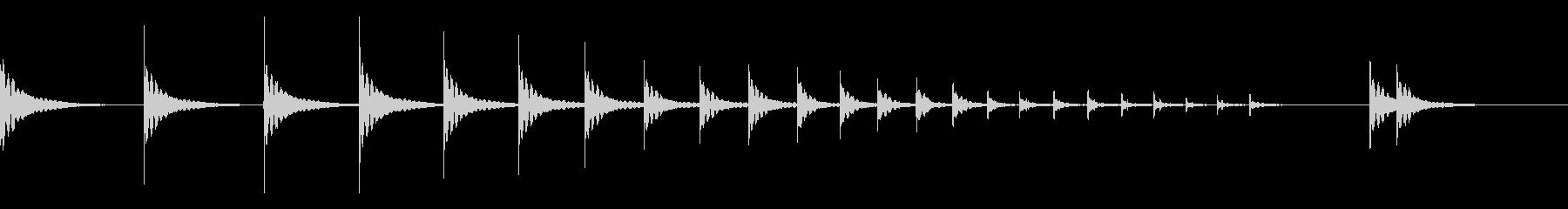 和太鼓ロール 桶胴太鼓2の未再生の波形