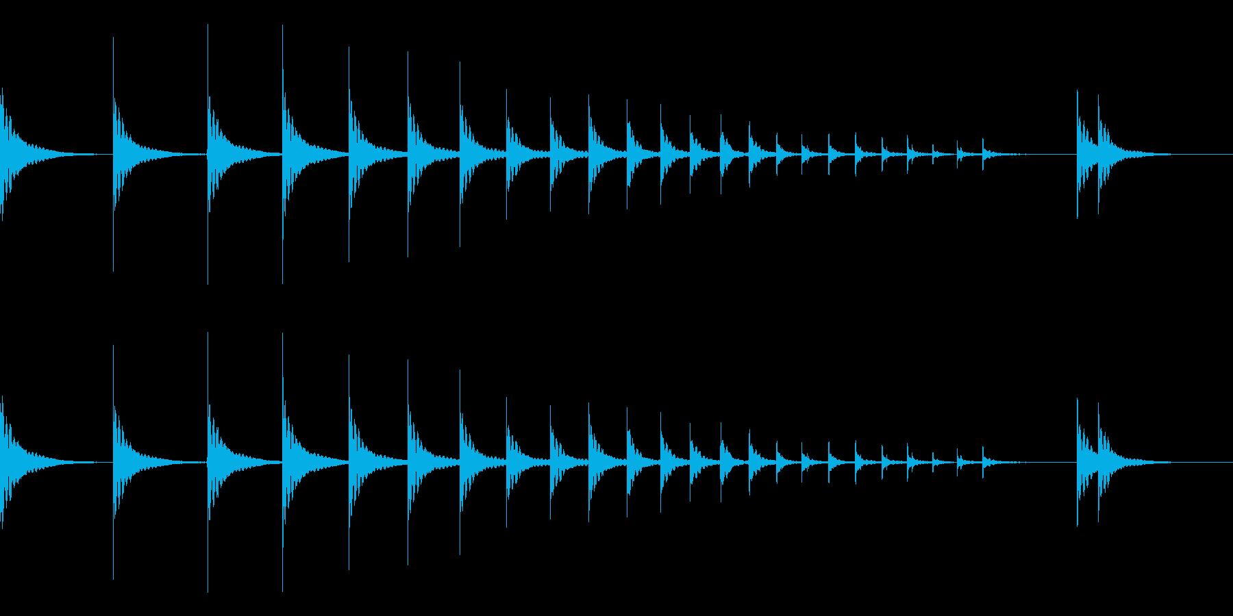 和太鼓ロール 桶胴太鼓2の再生済みの波形
