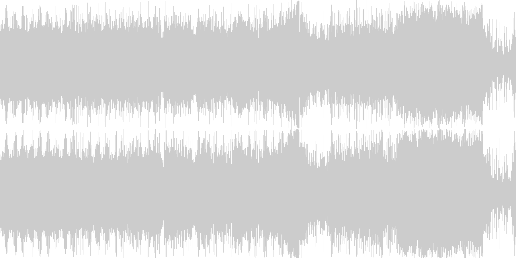 コーラスを使った民族系のBGM(ループ)の未再生の波形