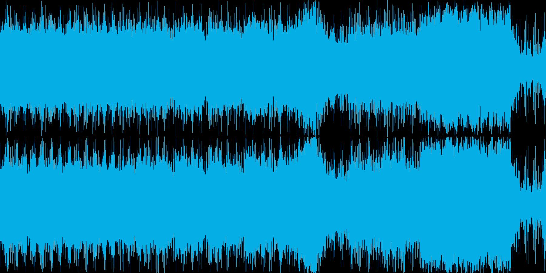 コーラスを使った民族系のBGM(ループ)の再生済みの波形
