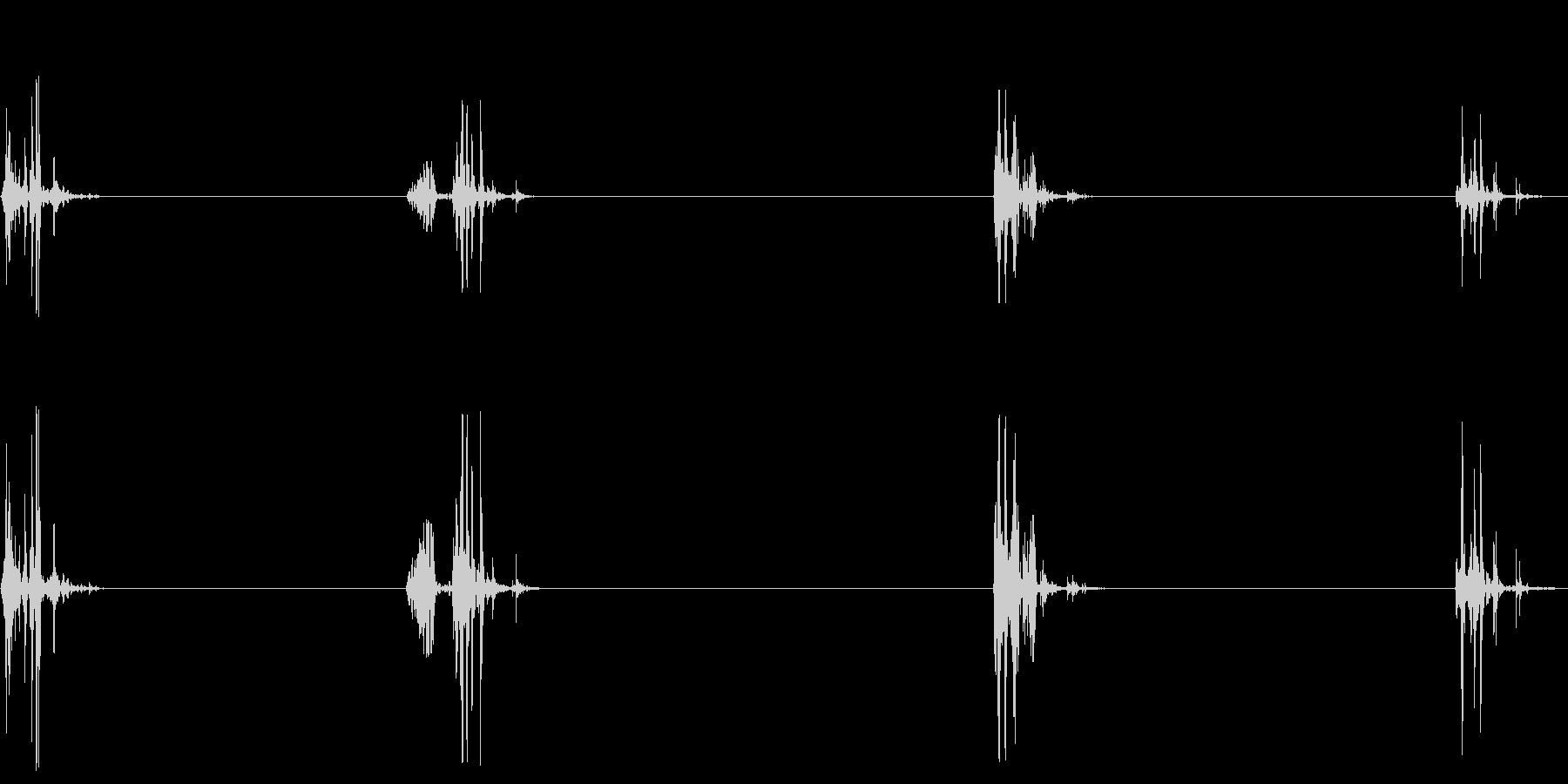 飲み込む音(ごっくん4回)の未再生の波形