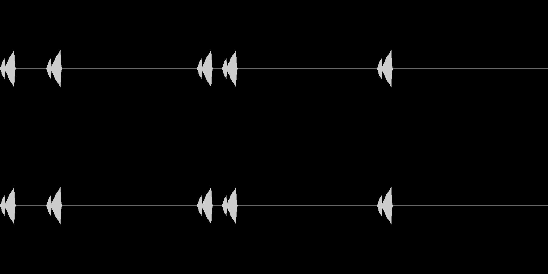 コミカルなSE(ピクピク)_その2の未再生の波形