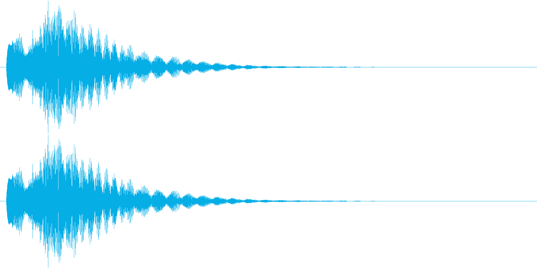 キラリーン!(チャイム系)の再生済みの波形