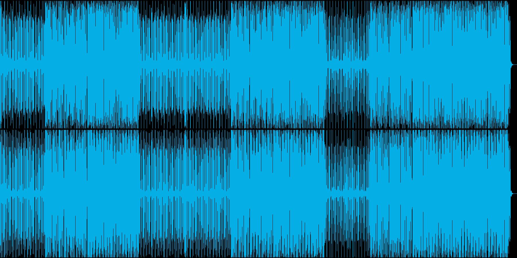 少し癖のあるリズムがあるテクノの再生済みの波形