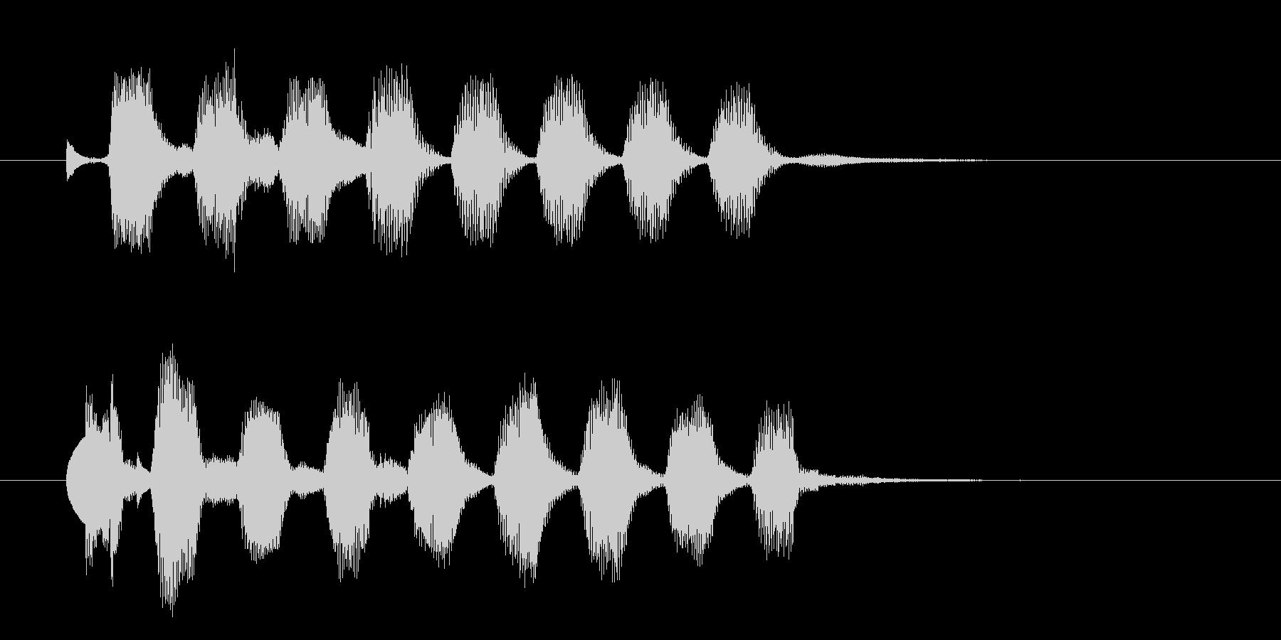ジングル(ポップ6)の未再生の波形