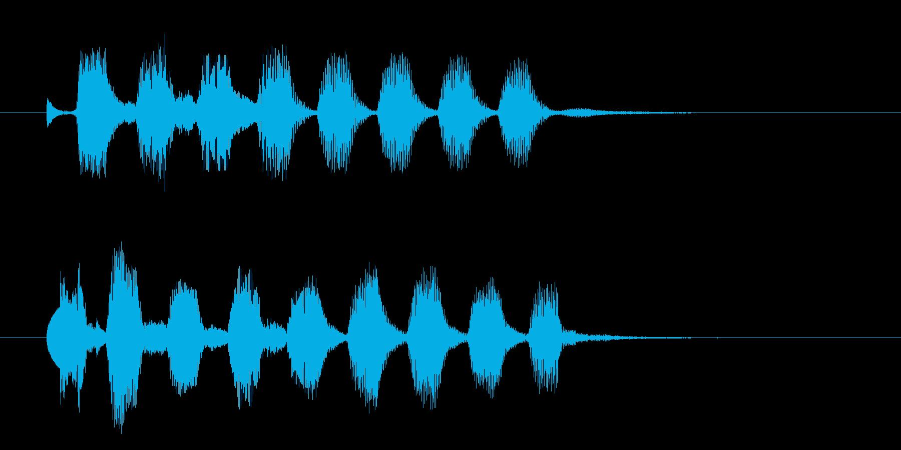 ジングル(ポップ6)の再生済みの波形