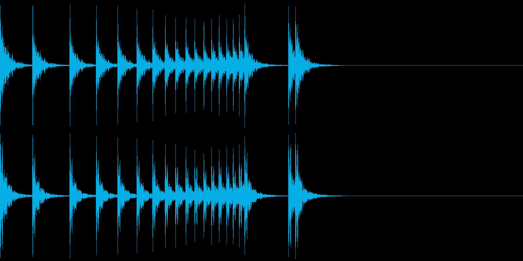 カン!カン!カン!拍子木ロール/ショートの再生済みの波形