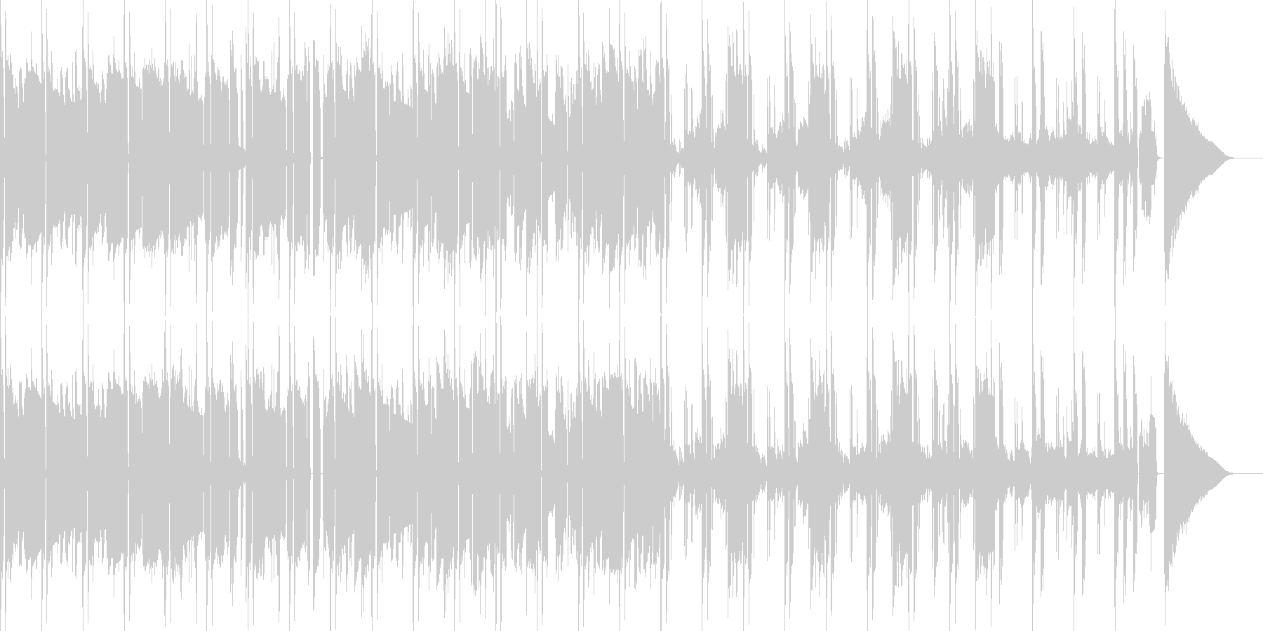 怪しいイメージ曲の未再生の波形