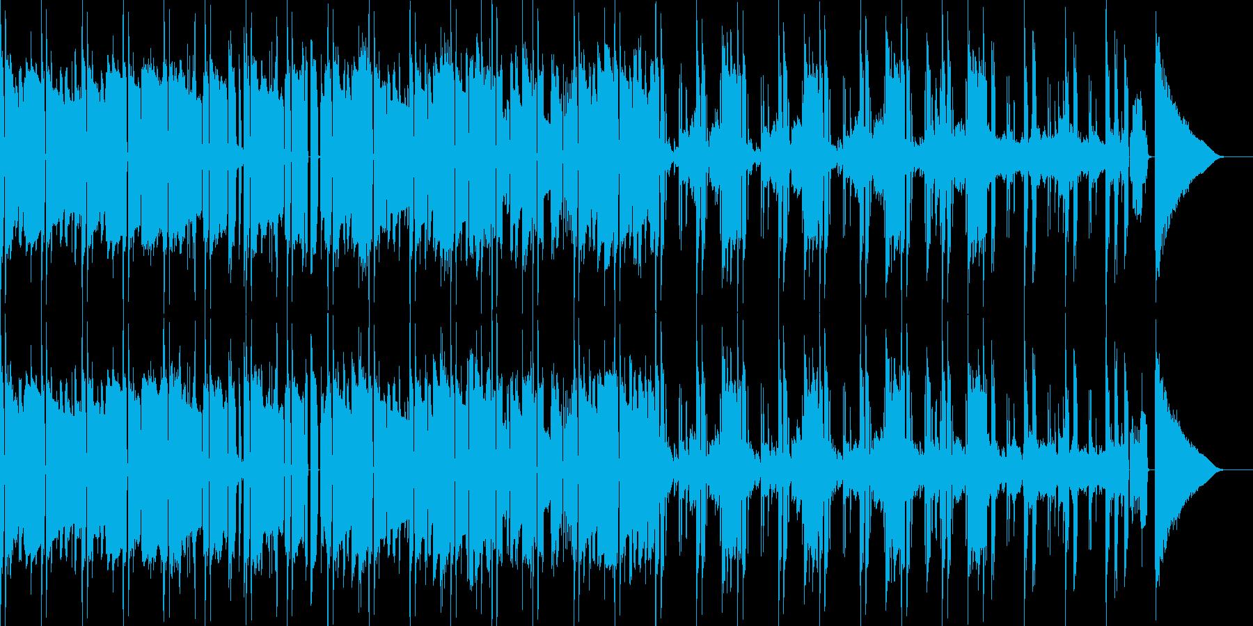 怪しいイメージ曲の再生済みの波形