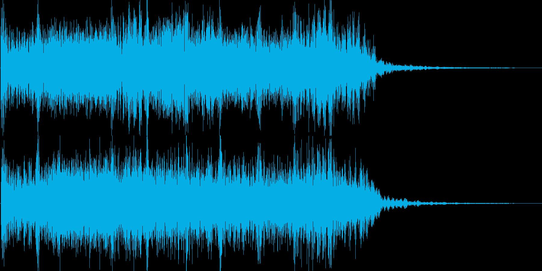 轟音ギターのヘヴィーショートジングルの再生済みの波形
