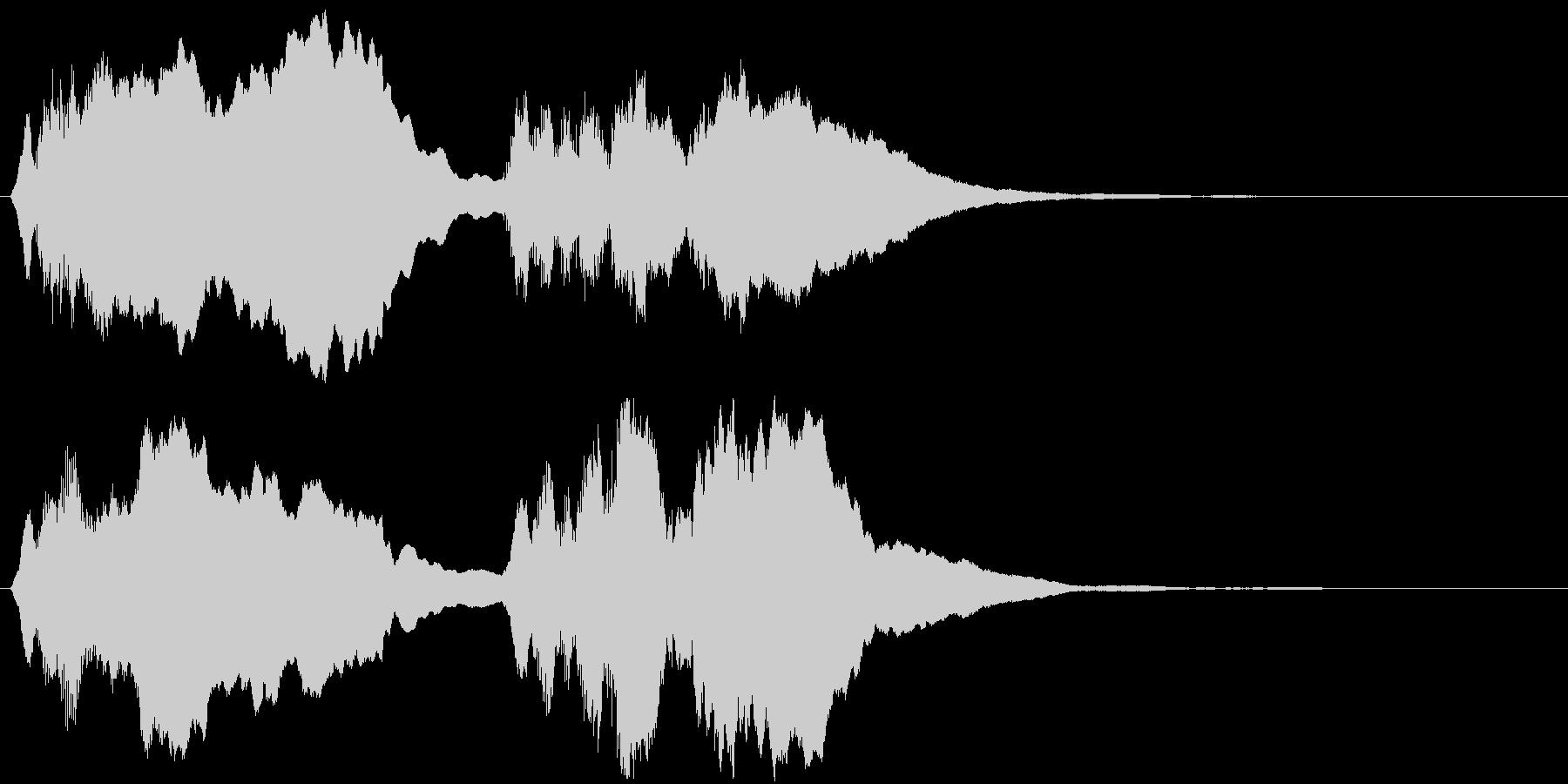 バッハ「トッカータとフーガ 」冒頭部の未再生の波形