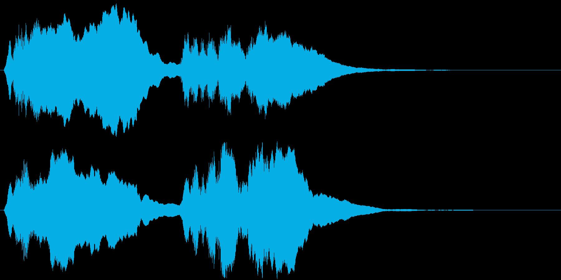 バッハ「トッカータとフーガ 」冒頭部の再生済みの波形