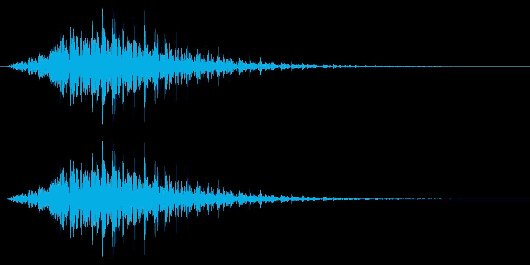 場面転換/テレビ番組/テンションダウンの再生済みの波形
