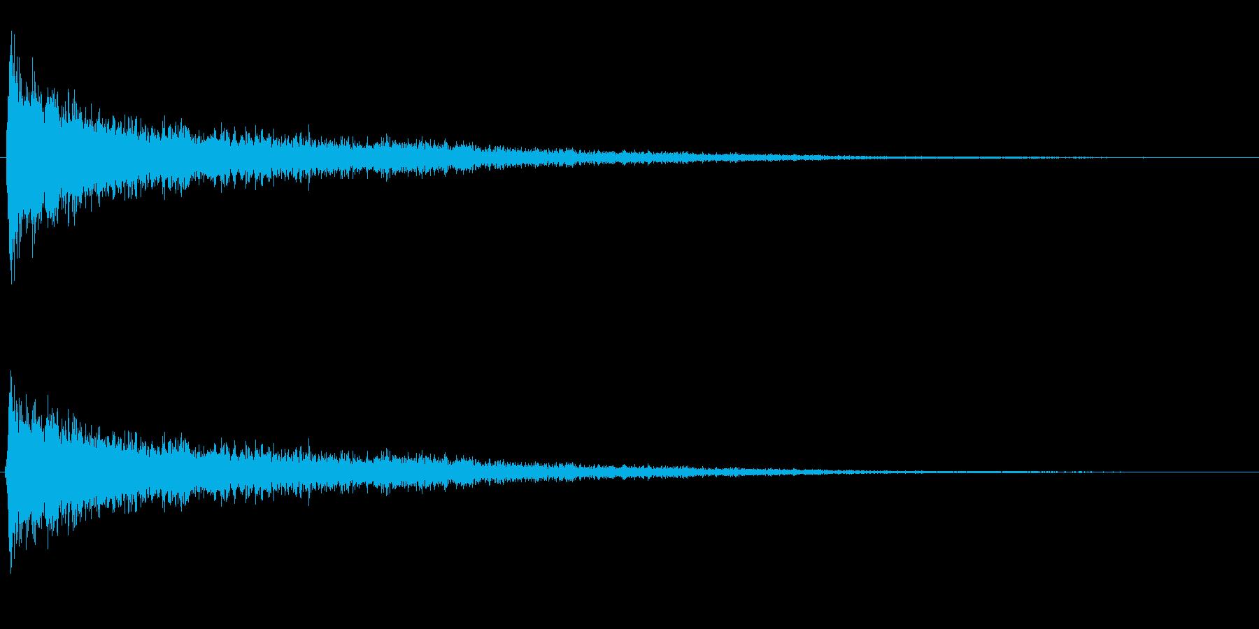 バーーン!(強いシンバル音)の再生済みの波形