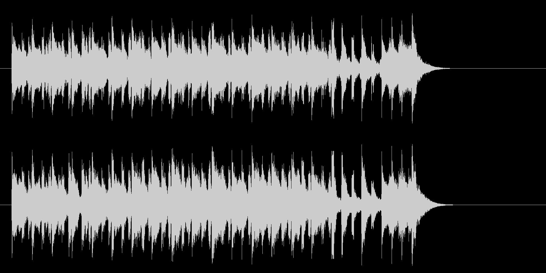 牧場のメルヘンなポップス(サビ)の未再生の波形