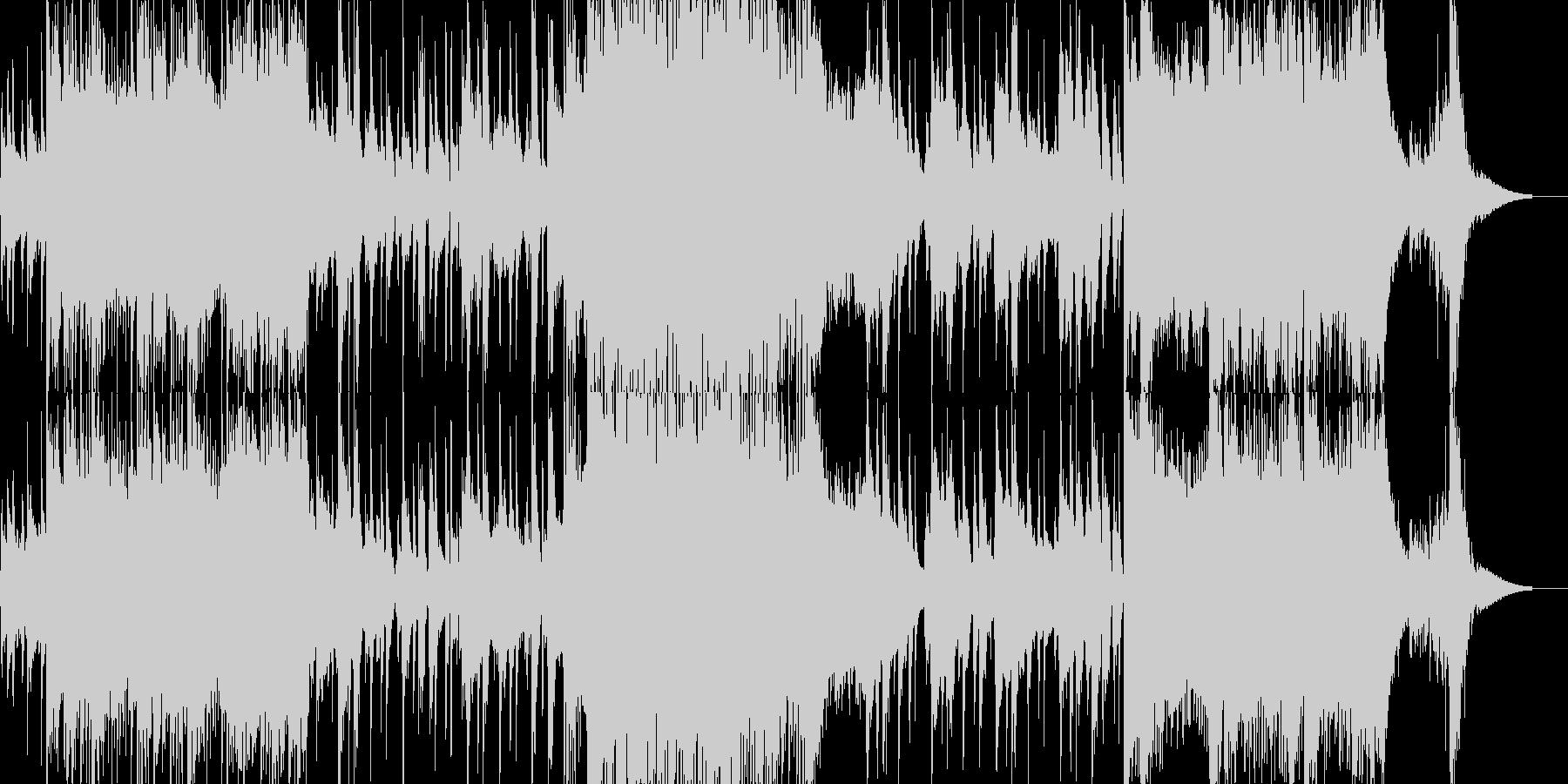激しさとのんびりさが入れ替わるジングルの未再生の波形