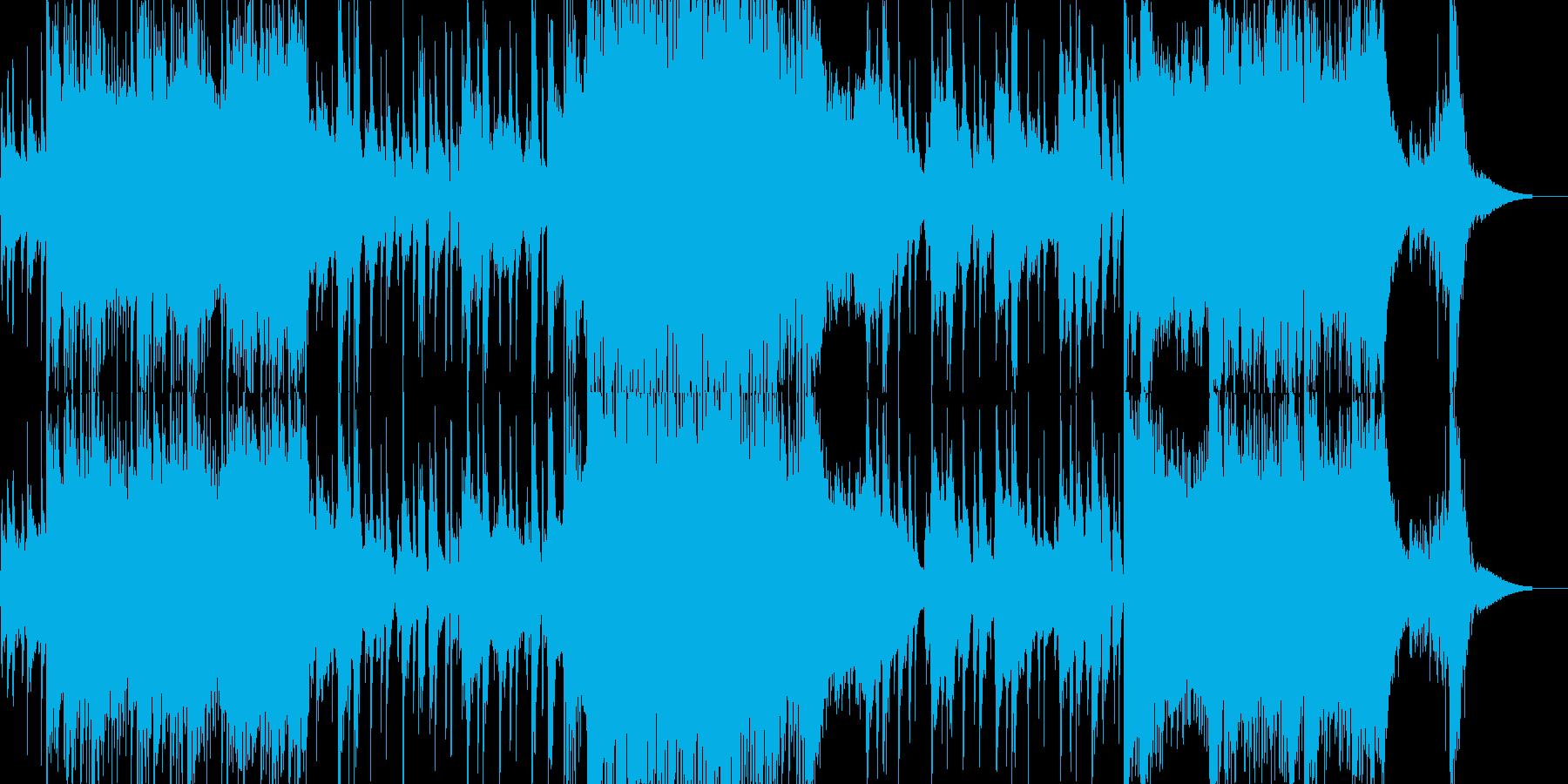 激しさとのんびりさが入れ替わるジングルの再生済みの波形