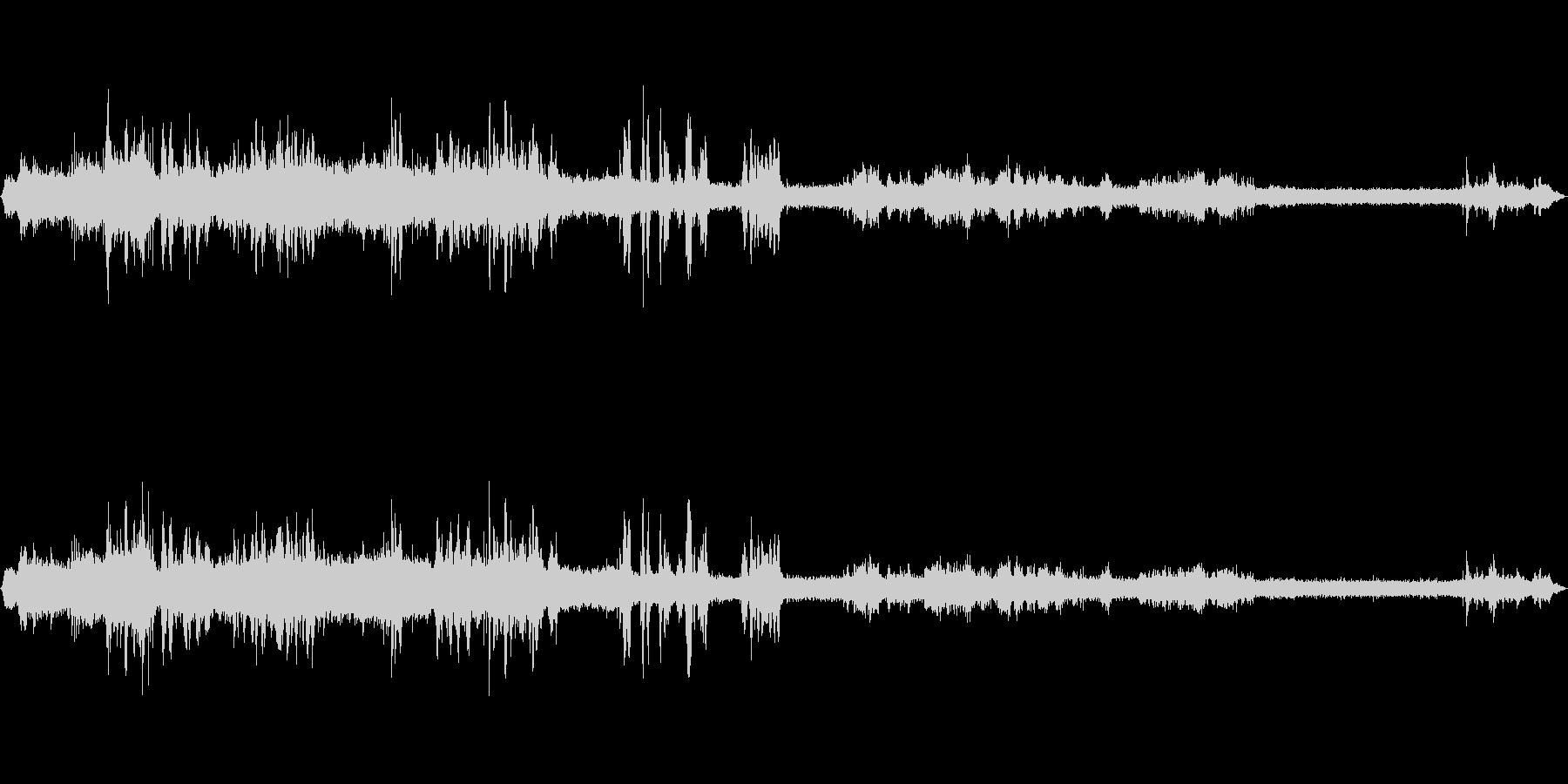 中央線快速車内音の未再生の波形