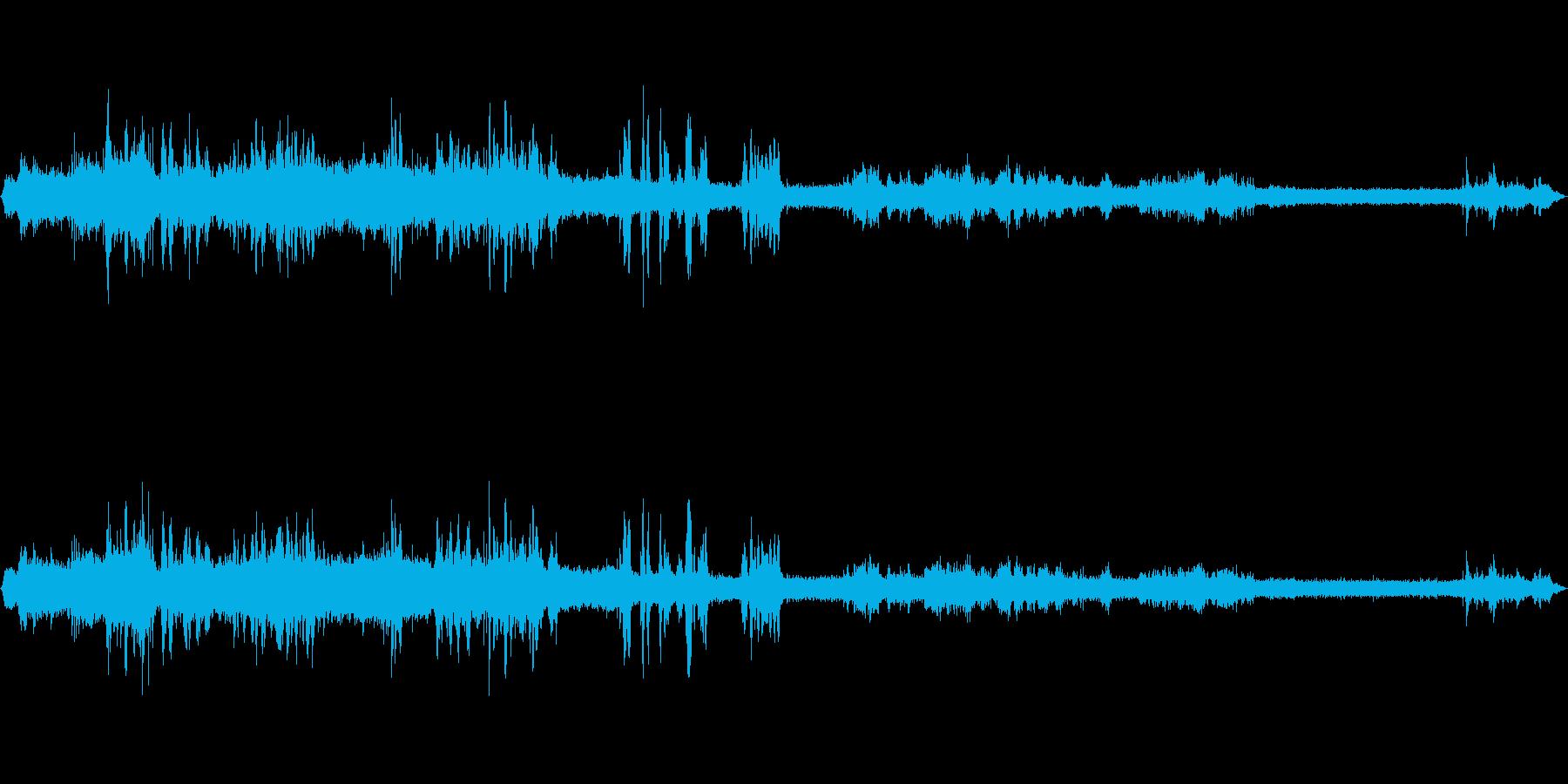 中央線快速車内音の再生済みの波形