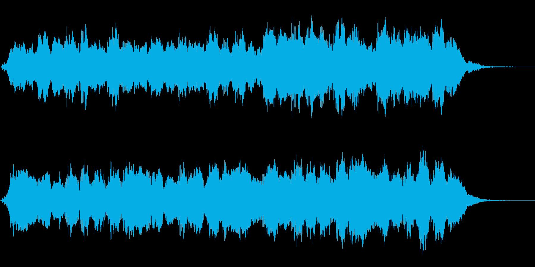 クジラの鳴き声のような不思議なジングルの再生済みの波形