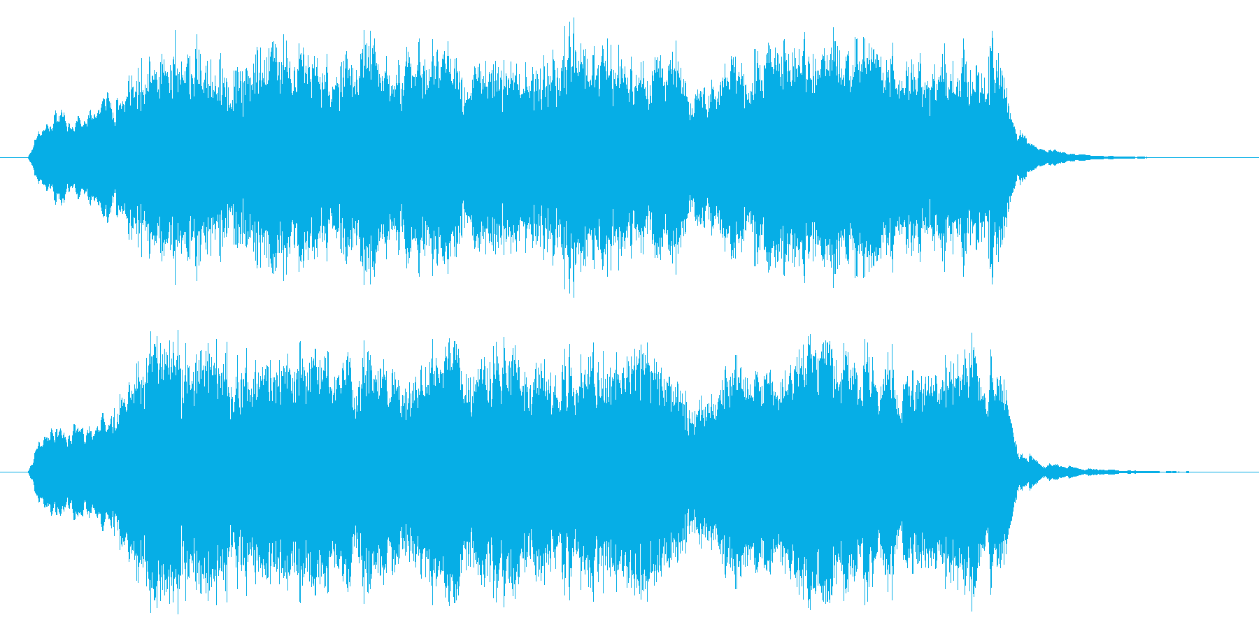 達成して終わる場合の再生済みの波形