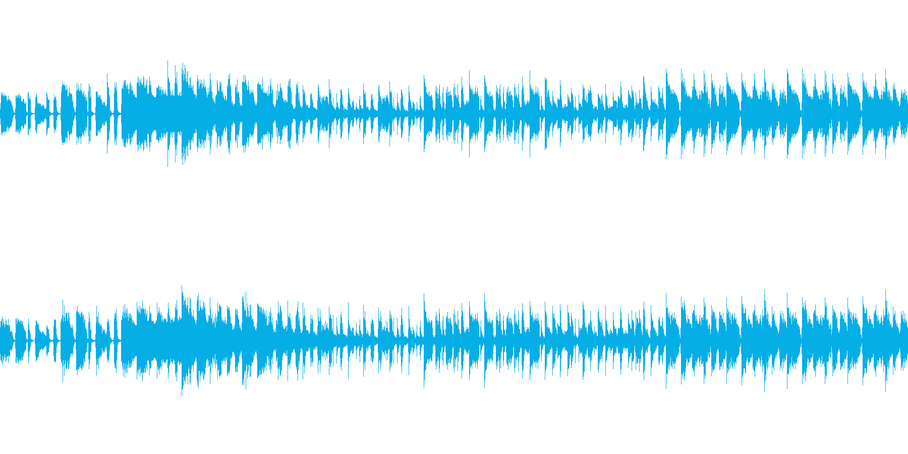 ご機嫌なホーンセクション中心のジングルの再生済みの波形