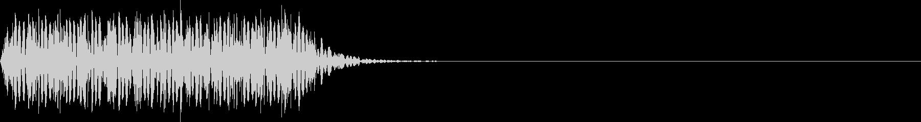 打撃音(低音_ダメージ_鈍い_長い)の未再生の波形