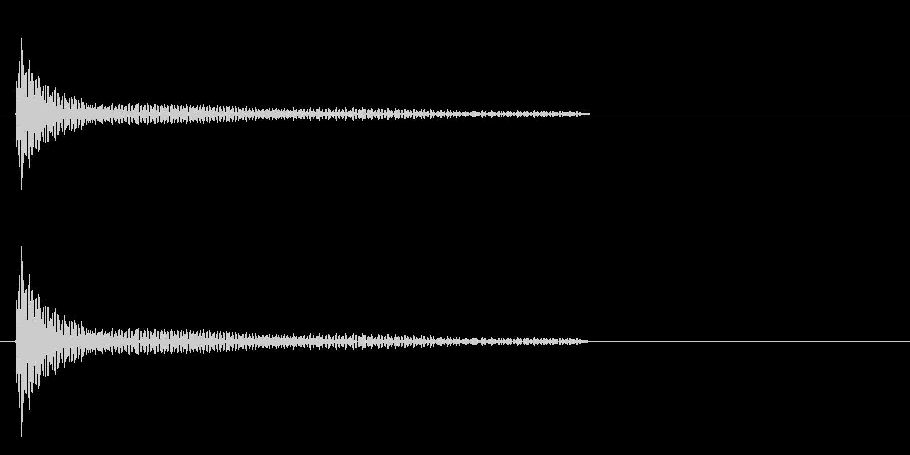 機械系の音の未再生の波形