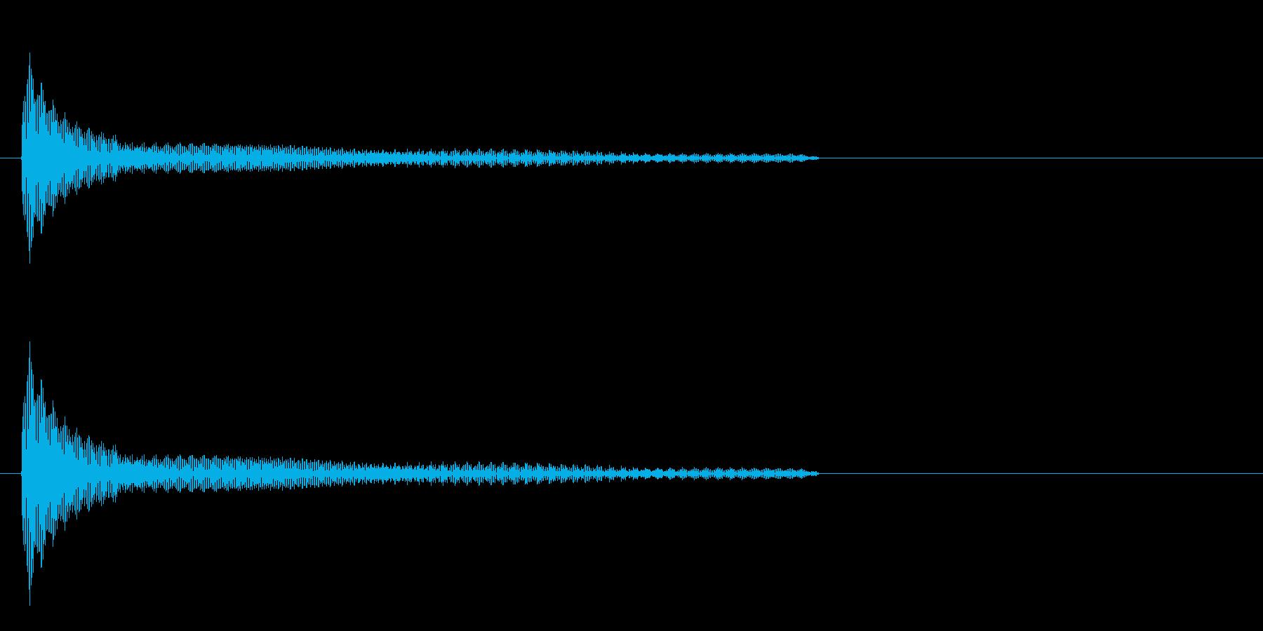 機械系の音の再生済みの波形