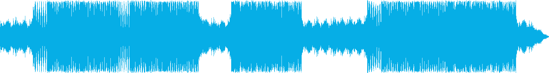 重厚な金管楽器がメインの楽曲の再生済みの波形