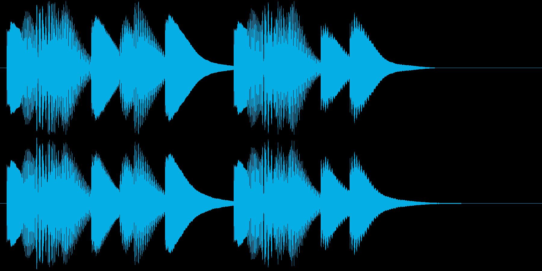 ジングル 木琴 軽快 愉快の再生済みの波形