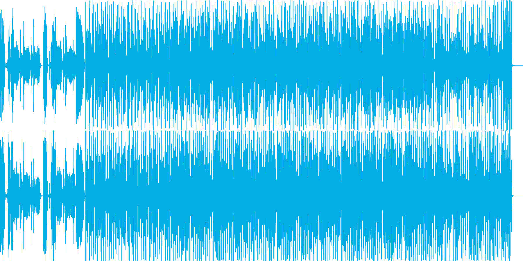 カーニバル音楽の再生済みの波形
