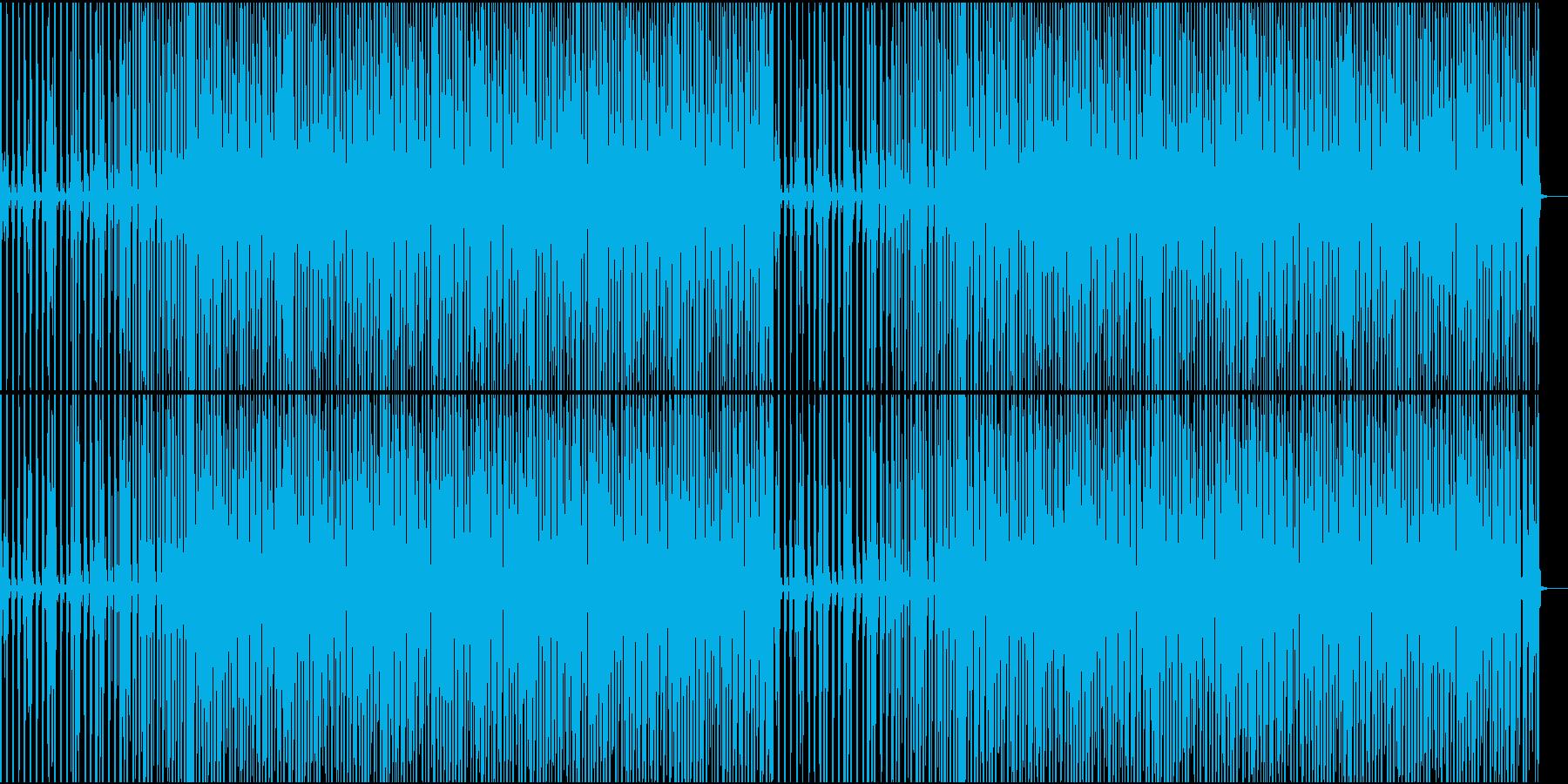 怪しく静かなハウスの再生済みの波形