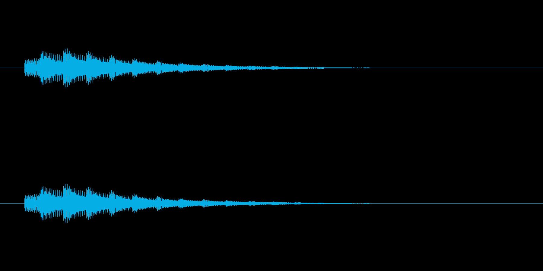 【アクセント17-2】の再生済みの波形