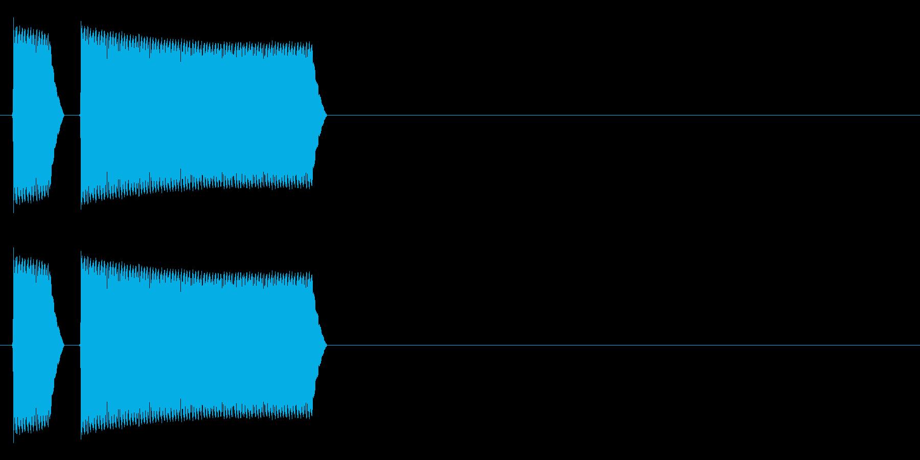 ブブーッ(不正解、禁止、警告音)の再生済みの波形
