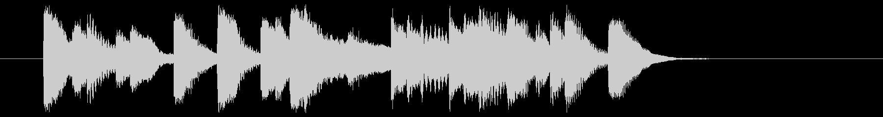 5~6秒のピアノソロのジングルです。の未再生の波形