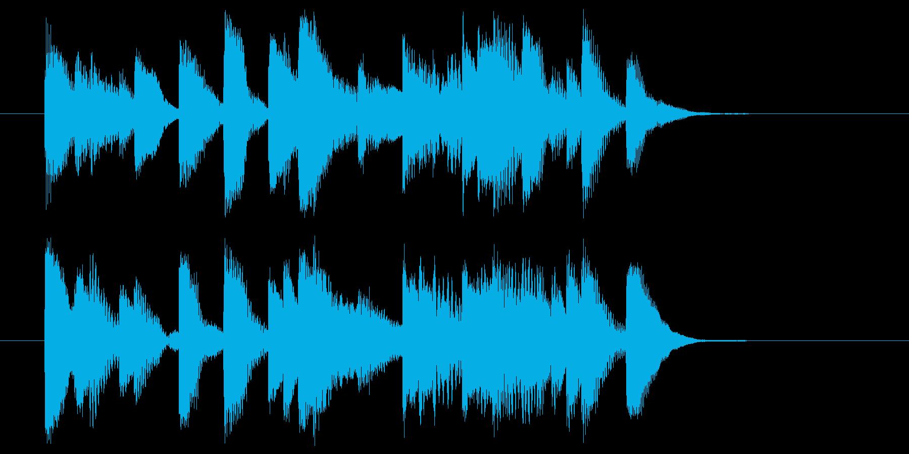 5~6秒のピアノソロのジングルです。の再生済みの波形