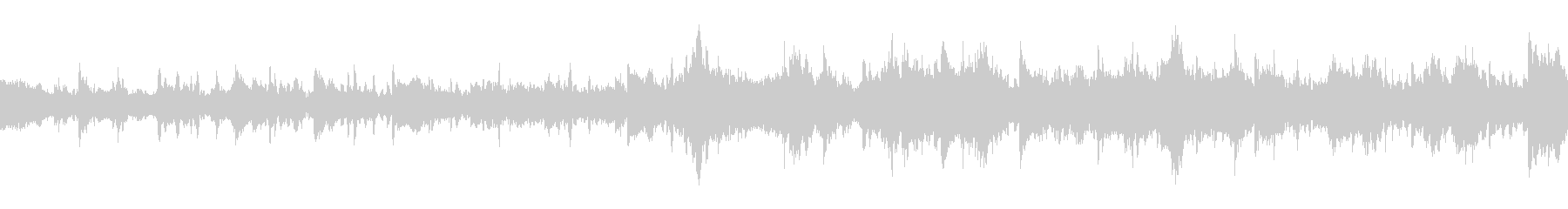 異空間のような浮遊感あるピアノ楽曲の未再生の波形