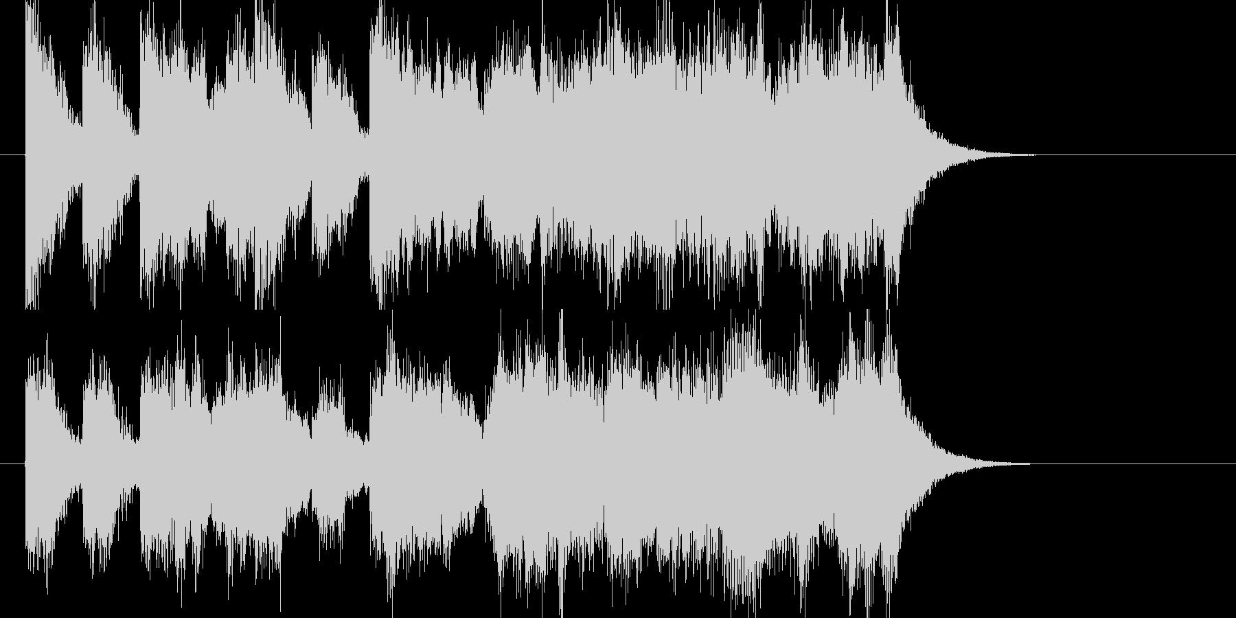 ファンファーレ風オーケストラジングルの未再生の波形