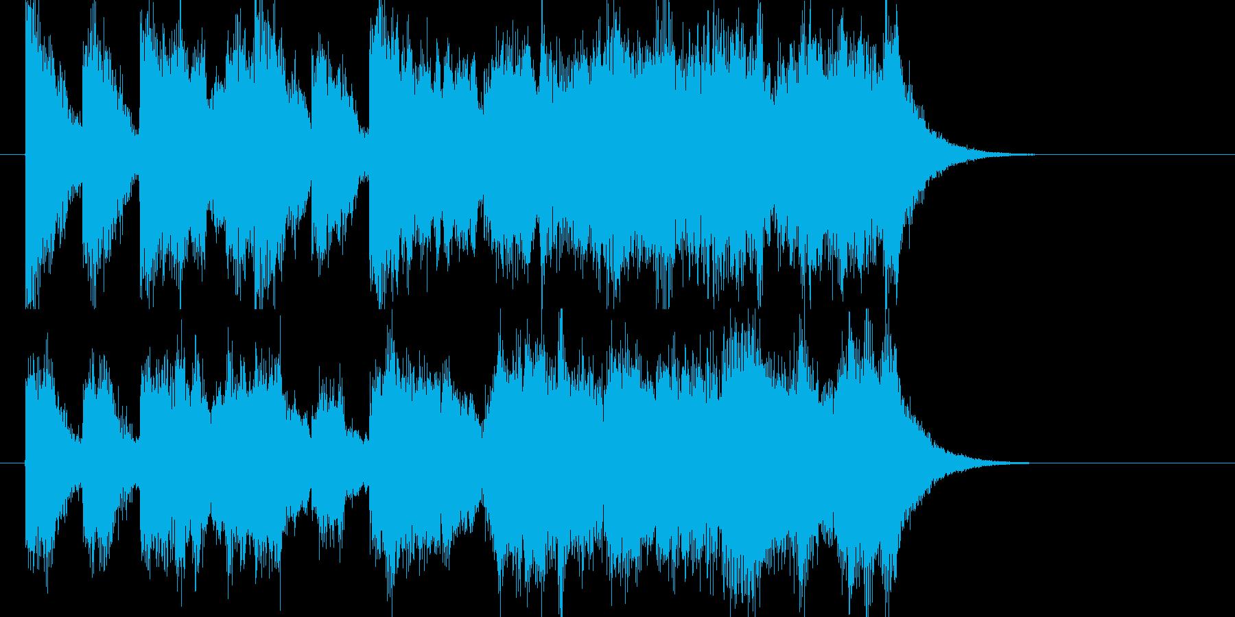 ファンファーレ風オーケストラジングルの再生済みの波形