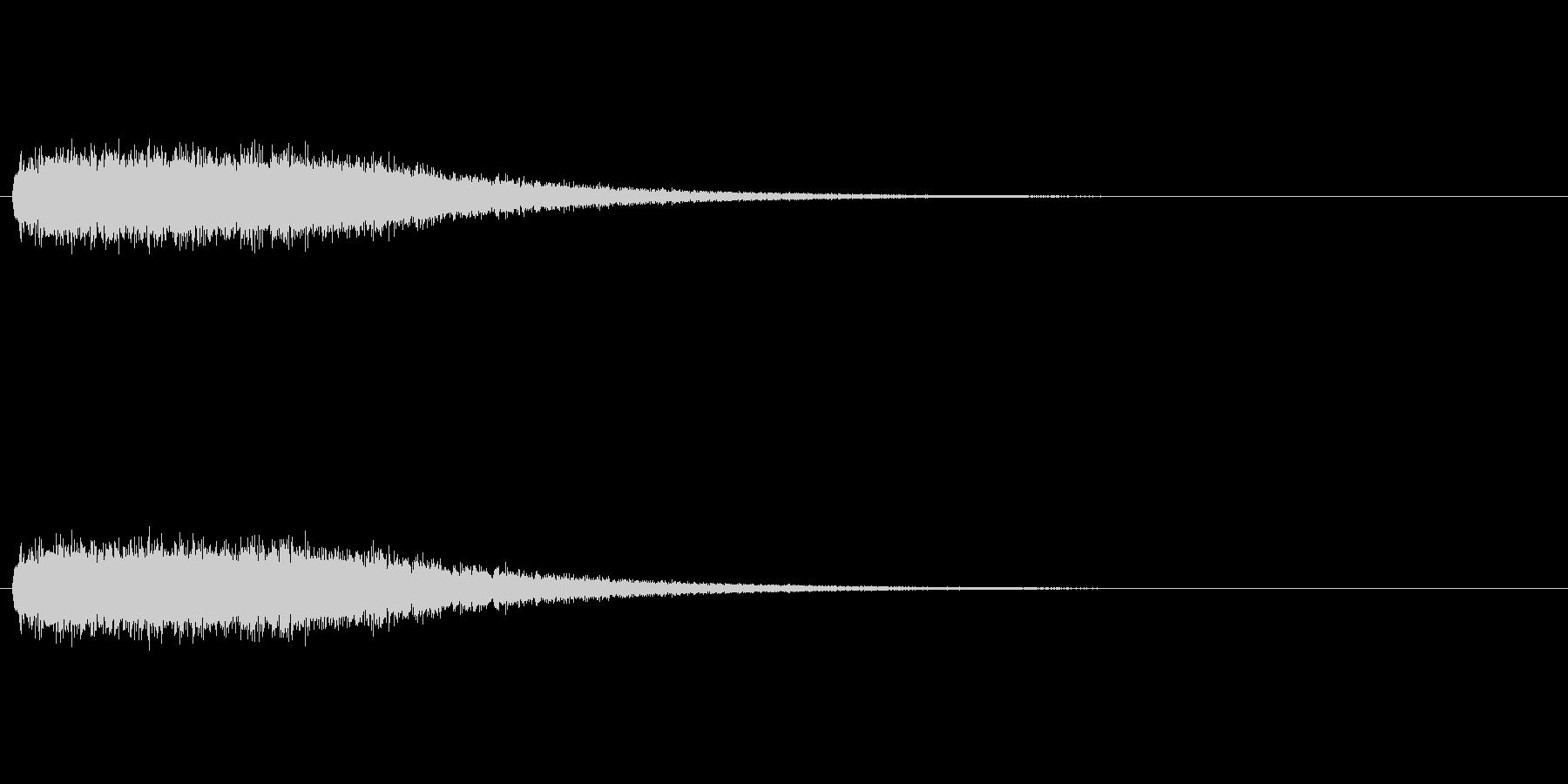 怖い音の未再生の波形
