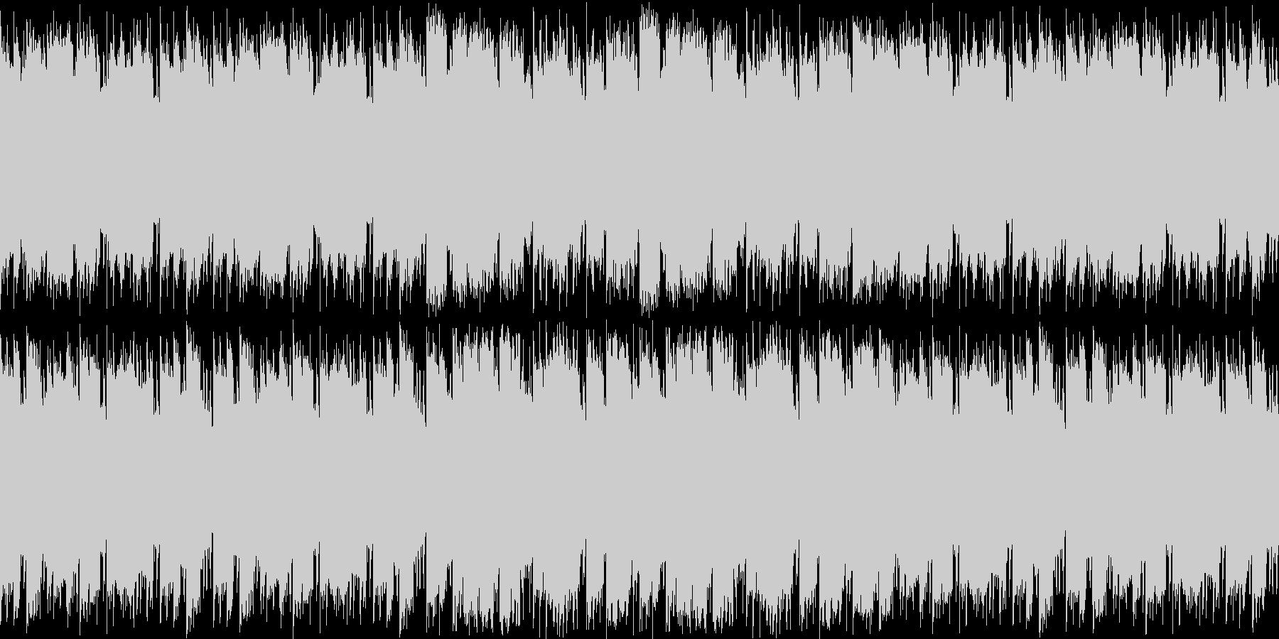 ほのぼの日常系ループ素材の未再生の波形
