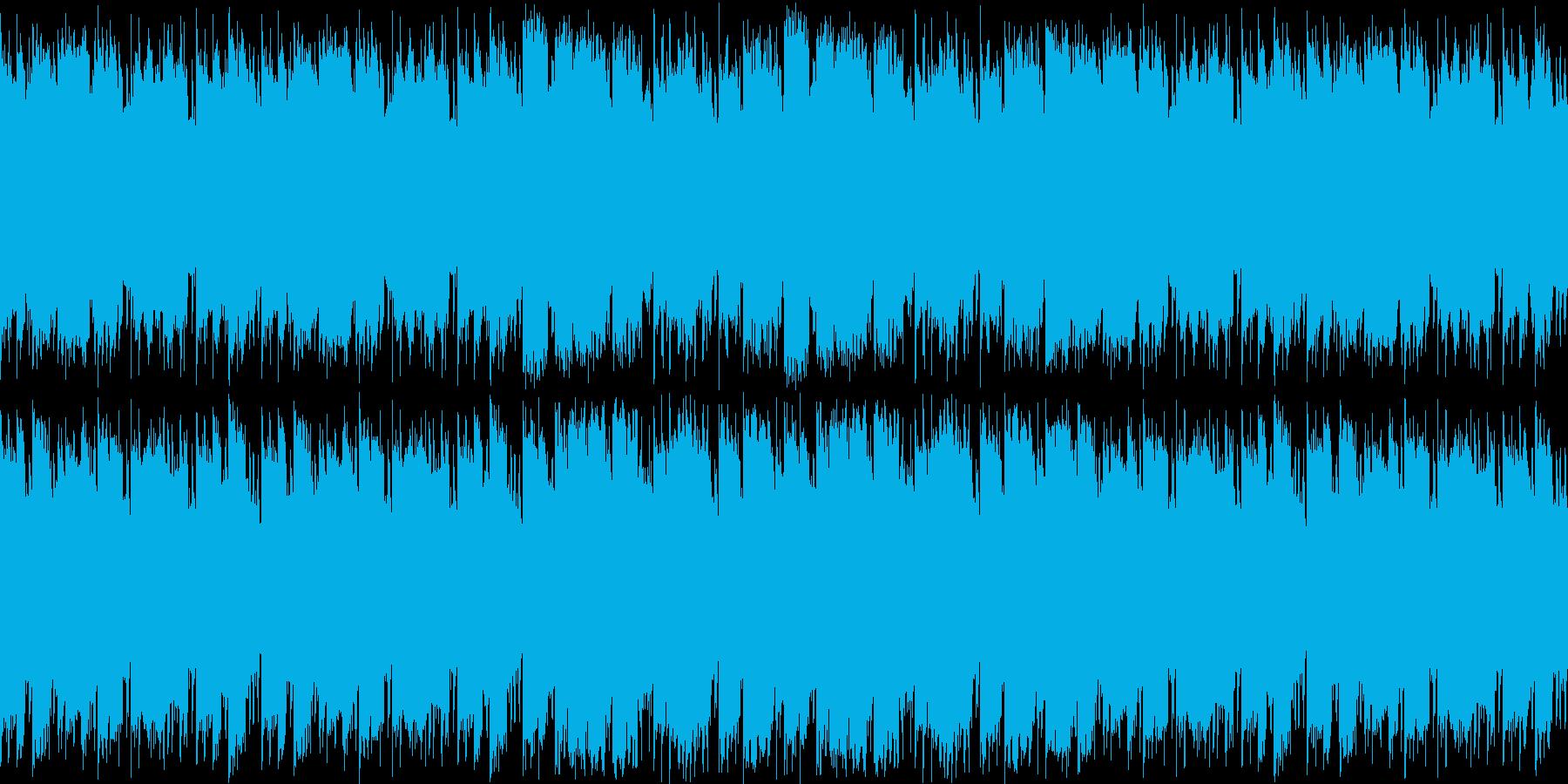 ほのぼの日常系ループ素材の再生済みの波形
