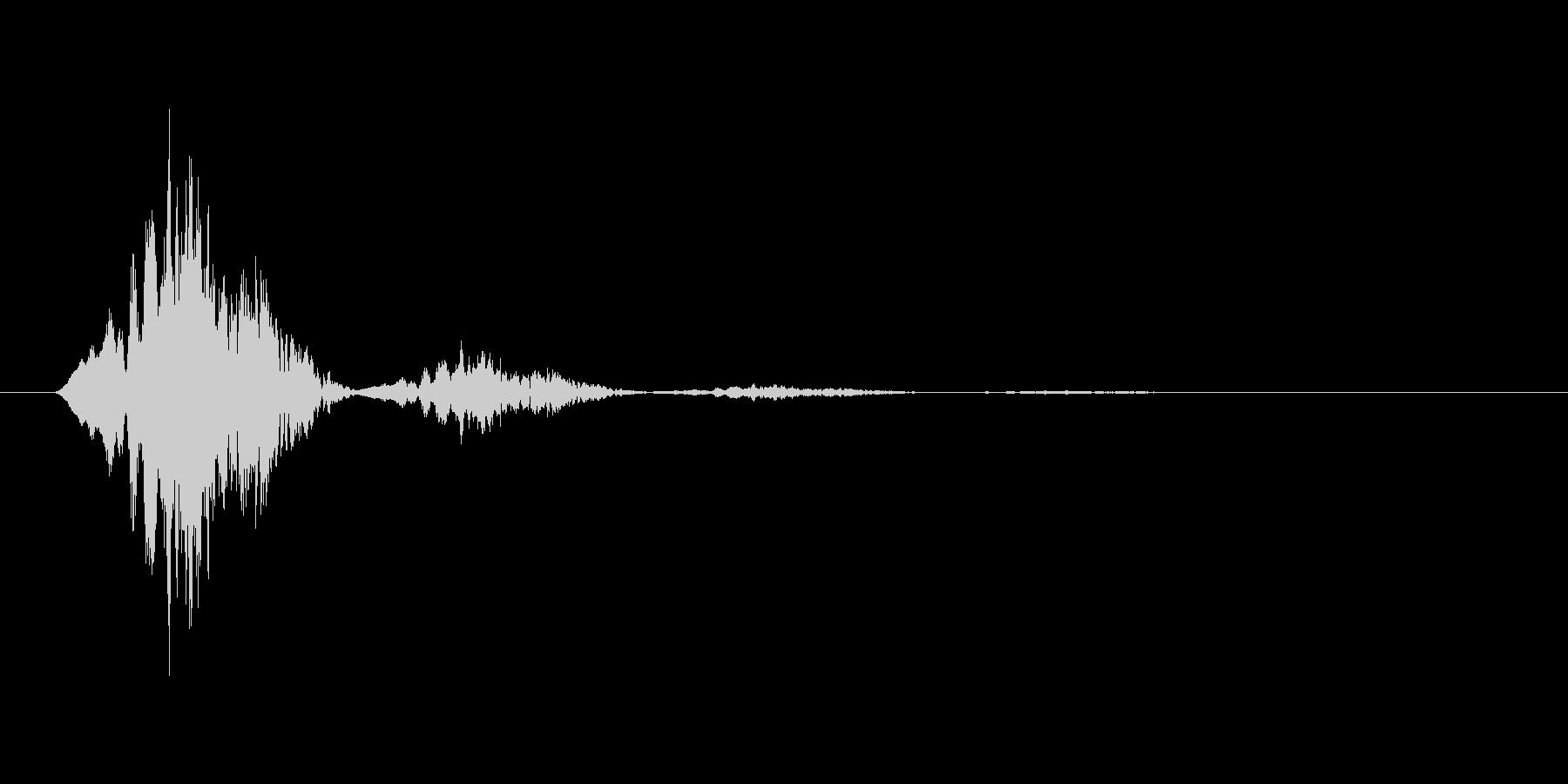 スワイプ.タップ.ページ送り音 03の未再生の波形