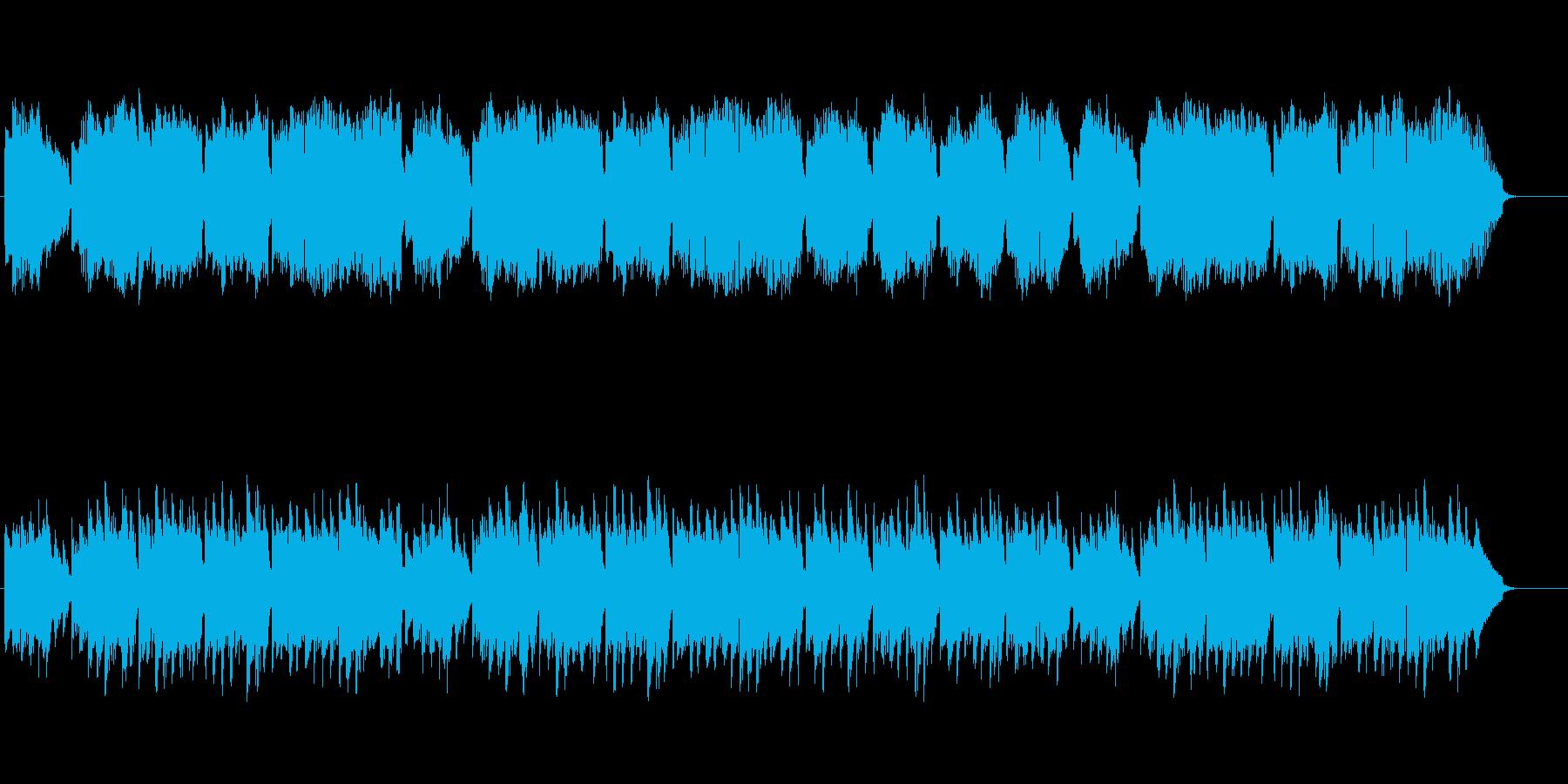 静かな哀愁のヨーロピアン風スローBGMの再生済みの波形