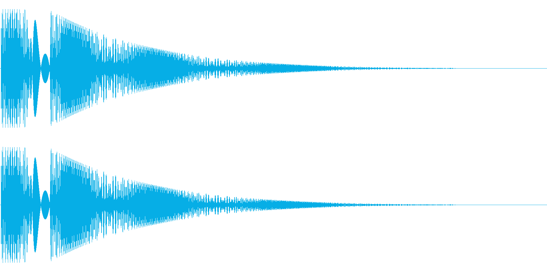 ボヨヨンと柔らかいものが揺れる01の再生済みの波形